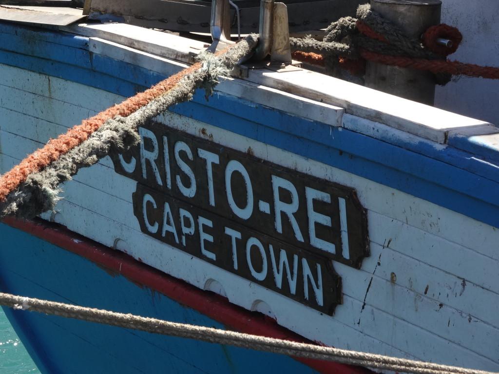 Vissersboot bij Kaapstad