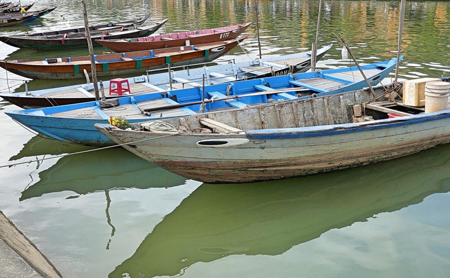 houten boten Hoi An